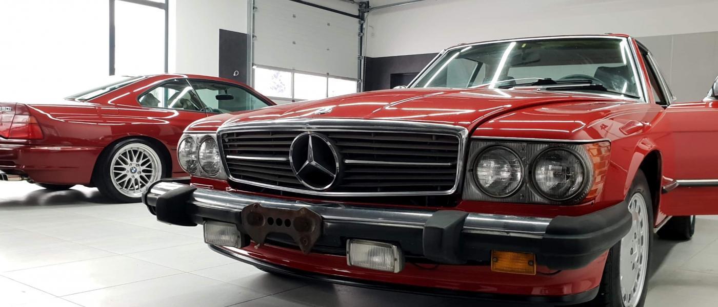 Mercedes SL560 Czerwony po renowacji