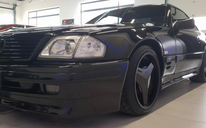 Mercedes 500SL Brabus package Japan