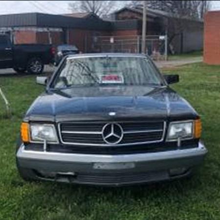 Mercedes SEC560 1988 czarny